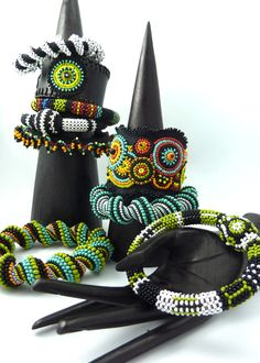 beaded bangles and cuffs  www.facebook.com/KIMBERLEYPRICEJEWELLERY