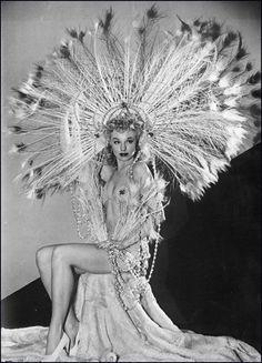 vintage burlesque | Vintage burlesque headdress | Vintage burlesque