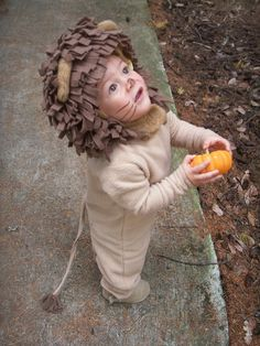 Lion Halloween Costume for Boys or Girls by BooBahBlue on Etsy