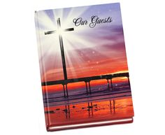 Funeral Guest Book Creator: Glorify Guest Book 8x10 Hardcover Glossy Register Book (adds photo on front cover, optional)