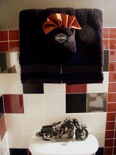 Harley Bathroom Decor On Pinterest Heavy Metal Retro Bikes And Bathroom Accessories