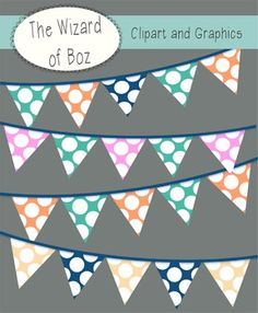 FREE flag/bunting clipart for personal and commercial use!