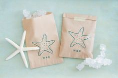 Beach Wedding Favor Bags - Perfect for Candy Bar Bags - by Be Collective