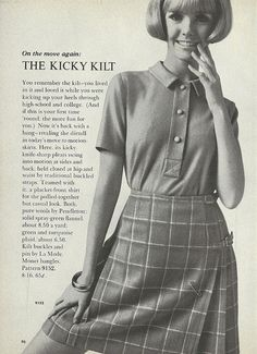 The kicky kilt is on the move again! #vintage #1960s #fashion