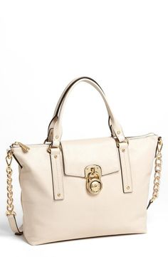 So polished! MICHAEL Michael Kors Off-white Satchel