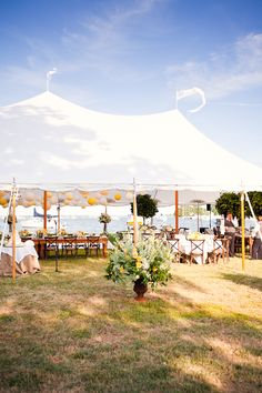 Southern wedding - tented reception