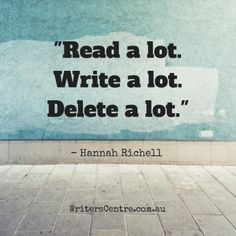 Advice on writing from author Hannah Richell