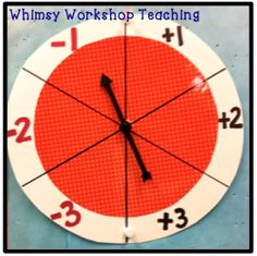 Quick Daily Math Ideas: Number of the day - Spin and add or subtract for quick and engaging practice as part of your daily calendar routine. Whimsy Workshop Teaching