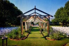 Gorgeous outdoor aisle for wedding.  You can just imagine the Bride's entry.
