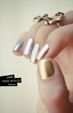 Mirror metallic Nails! Creative and sexy. Will go with any outfit! #Nails #Beauty #Fashion #AmplifyBuzz www.AmplifyBuzz.com