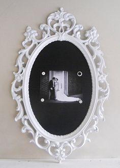 Framed Chalkboard <-office decor ideas
