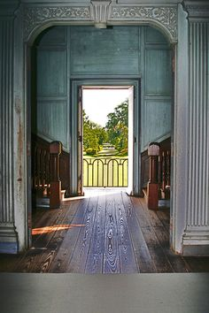 Inside the historic plantation house Drayton Hall