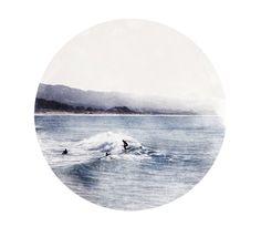 Surfers. $80.00, via Etsy.