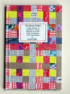 Handmade, hand bound book with woven cover. http://www.philobiblon.com/bindorama12/klausvonmirbach-2%20jpg.JPG