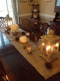 Fall Table Arrangements