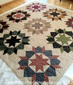 Swoon Quilt Reproduction Style - THE QUILTED PINEAPPLE.