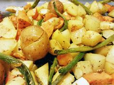 Coconut Oil Roasted Fall Vegetables