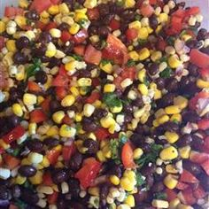 Heather's Cilantro, Black Bean, and Corn Salsa Allrecipes.com