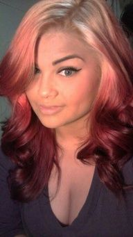 reverse ombre hair- this is what I will do this summer with my red grow out :)