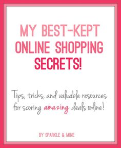 Never pay full price again! Blogger shares some really useful tips for getting the best deals online- including the best days to look for new markdowns and websites that alert you when something goes on sale. Best pin EVER!