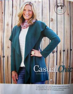 Cozy Sweater Coat for Sew News - Charise Creates