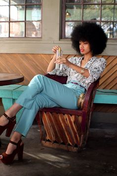 Afro in vintage glam! (6) Tumblr