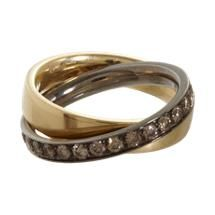 Roberto Marroni Cognac Diamond Rolling Ring