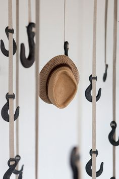 """GRAPPLE HANGING SYSTEM BY RYAN FRANK by Ted Savage / June 6, 2013 Hang your hat on bio-plastic hooks with """"the faintest smell of meado"""