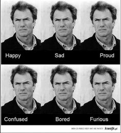 Expressions of Clint Eastwood