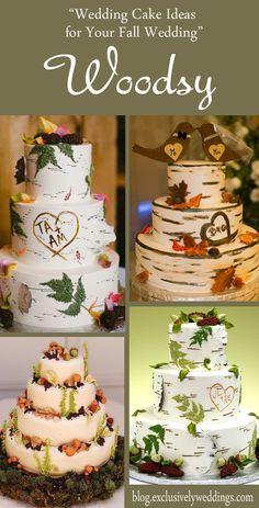 Wedding Cake Ideas for Your Fall Wedding - Woodsy