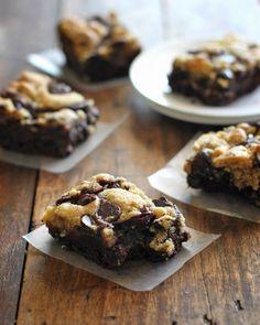 Chocolate Chip Cookie Brownies #pies #cake #food #popular #cookies #recipes #chocolate