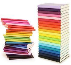 el cuaderno, el bloc; rojo, amarillo