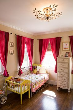 house tours, light fixtures, baby beds, dresser, kid rooms, neutral paint colors, bedroom, curtain, girl rooms