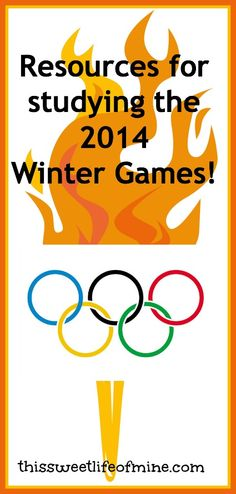 Studying the 2014 #Olympic Winter Games #homeschool   thisssweetlifeofmine.com