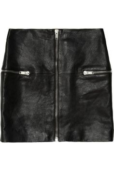 Shop now: Saint Laurent leather mini skirt