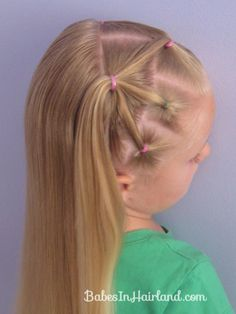 This would look cute on McKinley for softball hair and pull back into pony tail.