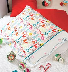 Our Week 8 Free Pattern is now available! Make your guests feel extra special this holiday season with the adorable Holiday Embroidered Pillowcase Pattern Download. Available exclusively at Connecting Threads. #12WOC