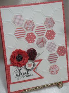 #honeycomb EF #hexagon punch #stampin up