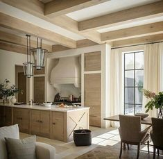 beautiful wood beams