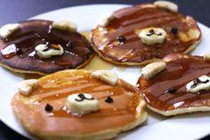 idea, fun food, breakfast, bears, pancakes, yummi, recip, kid, bear pancak