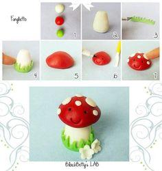 Gumpaste Mushroom tutorial