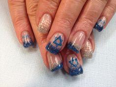 art wwwnailsmagcom, david nail, hanukkah nail, star of david, nail arts