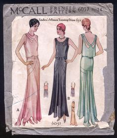 A Few Threads Loose: Sew Expensive... McCall 6057 Evening Gown Pattern - A Record Breaker!