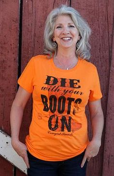 Die with your boots on Ladies original cowgirl clothing co. tee