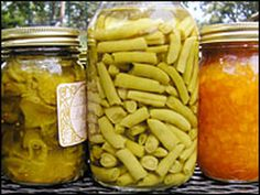 Canning recipes and tips for making bread and butter pickles and peach ginger jam.