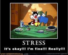 Funny stress cartoon