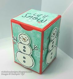 Vickie Lou Designs: Let it Snow! Snowman Seasons Christmas Gift Box