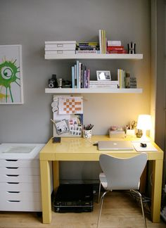 Parsons Desk + Scoop-Back Chair from west elm via @Apartment Therapy