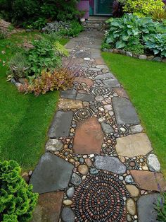 15 Magical Pebble Paths That Flow Like Rivers
