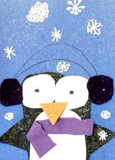 art stuff, winter art, ridicul ador, kinder idea, bricolag hiver, art lesson, winter idea